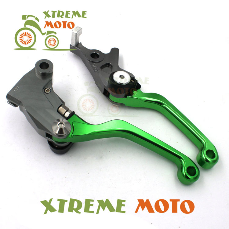 CNC Billet Pivot Foldable Brake Clutch Levers For Kawasaki KLX 125 150S D-TRACKER125 250 D-TRACKER Motocross  Enduro Dirt Bike