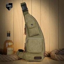 Designer Man Military Crossbody Bag Chest Bag Quality Canva Shoulder Bag Back Pack Men's Chest Bag