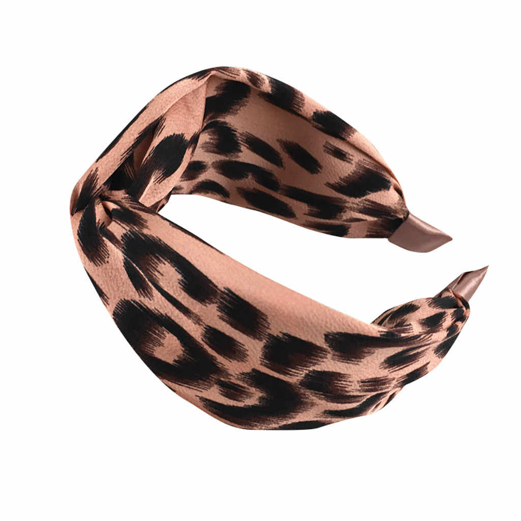 Women's Solid Soft Headband Leopard Fashion Casual Headband Bow Headband Hair Strap Turban HairHoop Hair Accessories #P4