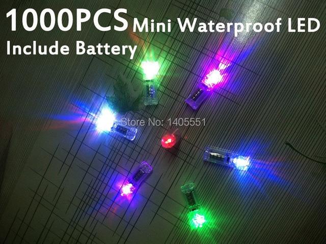 1000 stks waterdichte led lampen bevatten batterij mini bloemen party led verlichting 8 uur batterij