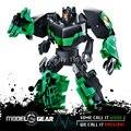 WeiJiang WEI JIANG TF Versão do Filme Dos Desenhos Animados Cor Verde de Plástico Deformação Hornet Robô Transformação Brinquedos Action Figure