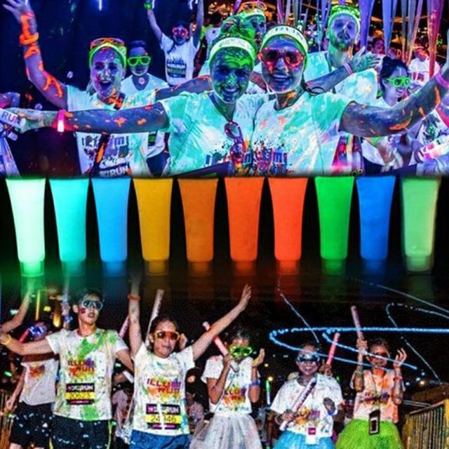 10 colors set neon color face body skin luminous painting stage glow