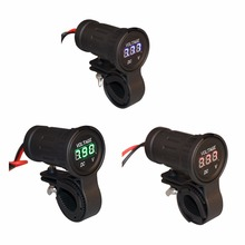 12-24V DC LED Digital Display Universal Car Motorcycle Voltmeter Waterproof  Motor Tester Tools