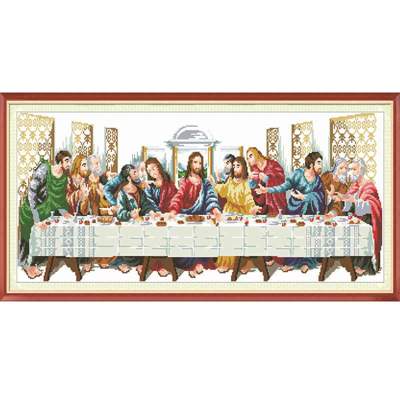 104*45cm Last Supper Pictures Cross Stitch 5D DIY Round Diamond Painting Embroidery Christianity Jesus Religious Needlework - HIKU E-commerce Co.,Ltd store
