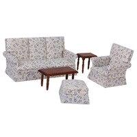 Dollhouse Miniature Furniture Sofa End Table Set 1:12