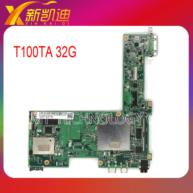 Para asus transformer t100ta tablet pc placa base 32 gb ghz cpu atom 1.33 60nb0450-mb1070