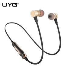 Uyg U77 Спорт Беспроводной наушники Bluetooth Наушники Магнитная стерео гарнитура голосового управления Шум шумоподавления с микрофоном