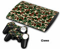 Camo Decal Skin Sticker For Playstation 3 For PS3 4000 Super Slim Console + 2Pcs Stickers For PS3 Controller