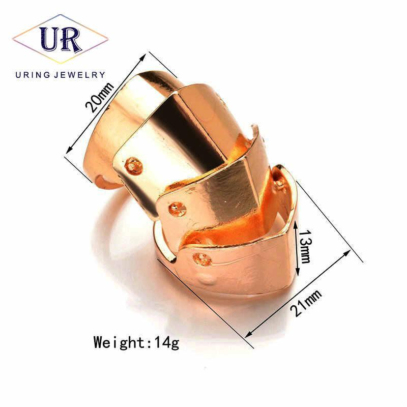 มือ Knuckle Finger แหวนเงินทองสีผู้หญิงเกราะสไตล์วินเทจแฟชั่นเครื่องประดับ 2018 สำหรับครบรอบ KB160