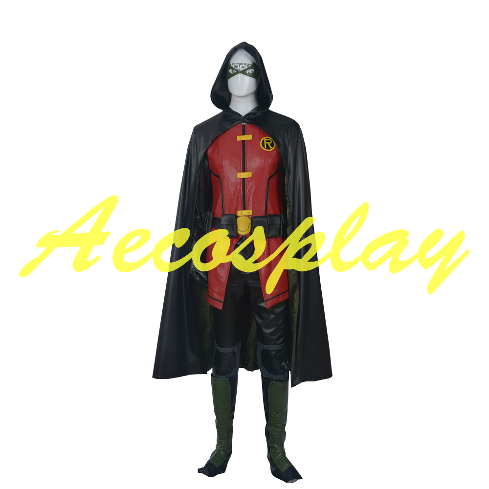 Young Justice Cosplay Justice League vs Teen Titans Halloween Customized Costumes Justice League New Arrival Batman Robin