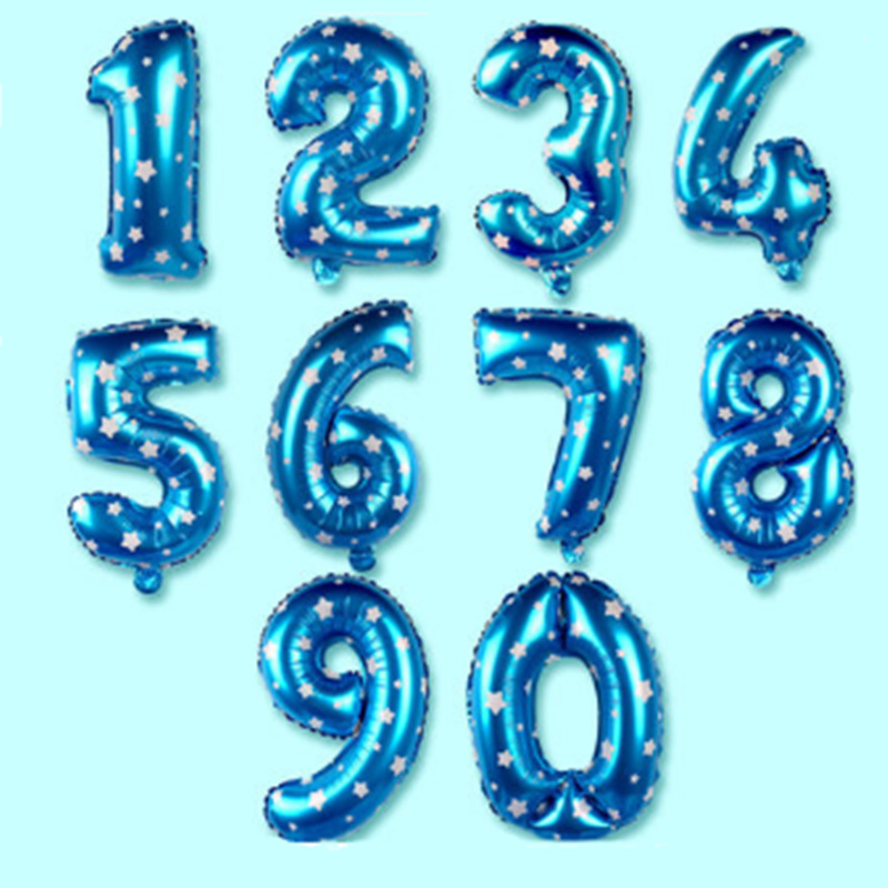 Number Foil Balloons 16 30 40 inch Gold Silver Pink blue Baby Shower Supplies Wedding Birthday Party Decoration Balloon in Ballons Accessories from Home Garden