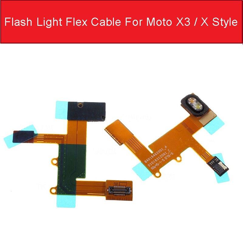 Camera Flash Light Flex Cable For Motorola Moto X Style X3 XT1575 XT1572 XT1570 Flashlight Flash Lamp Flex Ribbon Replacement
