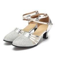 2018 New Women Latin Dance Shoes Heeled Ballroom Dancing Shoes For Women Ladies Girls Tango 3
