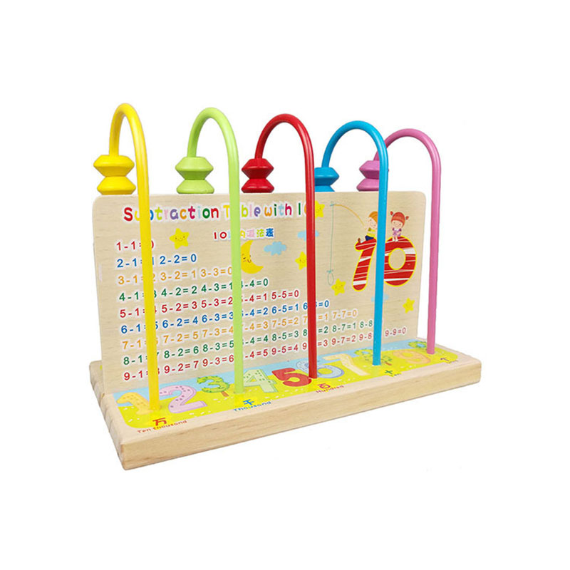 Multicolor Wooden Abacus Toys Children Counting Calculation Shelf Blocks Montessori Learning Educational Math Toys UK0266H