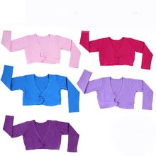2016 wiosna jesień dziewczyny dzieci z długim rękawem taniec baletowy kurtka wysokiej talii mały płaszcz gimnastyka trykot płaszcz tanie tanio YI NA SHENG WU CN (pochodzenie) BALLET FT2131 Stretch Spandex COTTON M L XL 2XL Pink Black Hot Pink Pink Purple Lavender