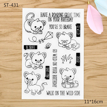 Little Lion King Animals Transparent Clear Silicone Stamp/Seal for DIY scrapbooking/photo album Decorative clear stamp sheets