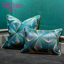 Avigers Luxury Green Navy Blue Cushion Covers Embroidery Throw Pillow Cases Square Customized Decorative Pillowcase for Sofa Car цены