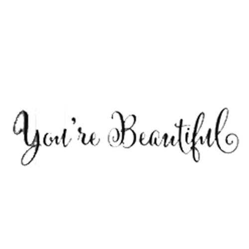 Youre Beautiful Quote Mirror Decal Living Room Carving Wall Decal
