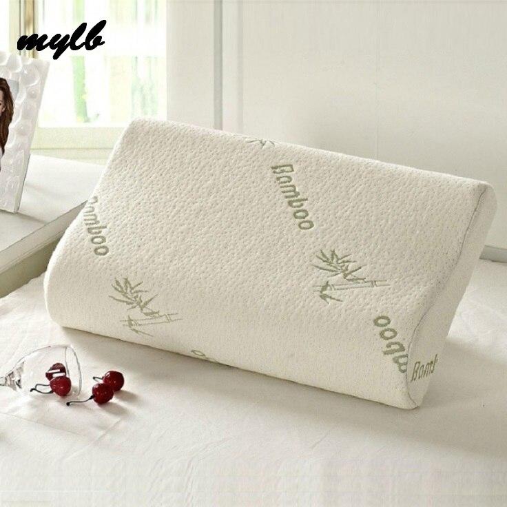 Mylb dormir bambu espuma de memória almofadas ortopédicas travesseiro oreiller travesseiro travesseiro almohada cervical kussens poduszkap