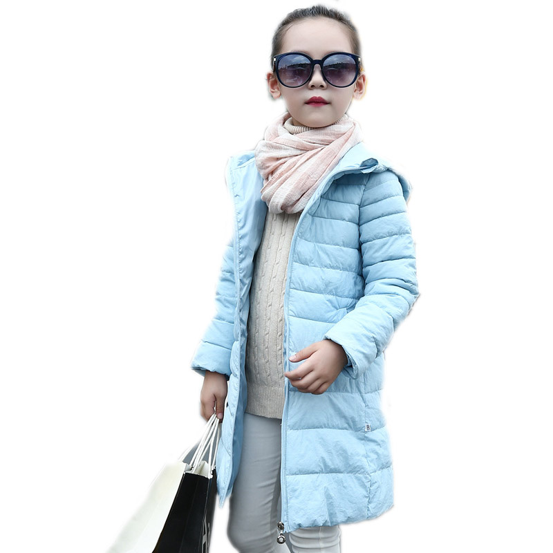 girl long jackets 2017 winter girls coats solid hooded kids down jackets thicken warm girls parka cotton padded children outwear fashion girl thicken snowsuit winter jackets for girls children down coats outerwear warm hooded clothes big kids clothing gh236