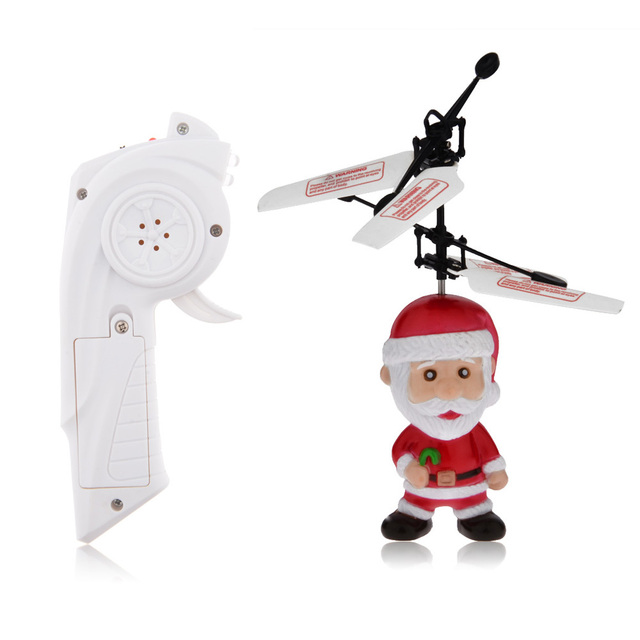 christmas gift flying santa claus infrared induction wireless remote