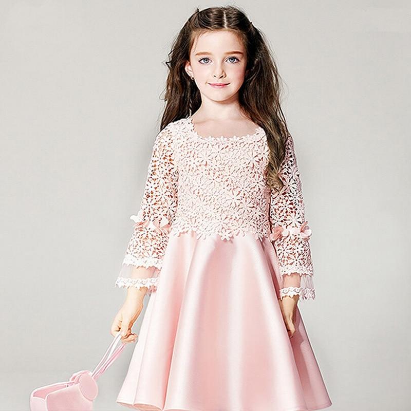 Nicoevaropa New Girls Dresses Baby kids Pink Long Sleeves ...