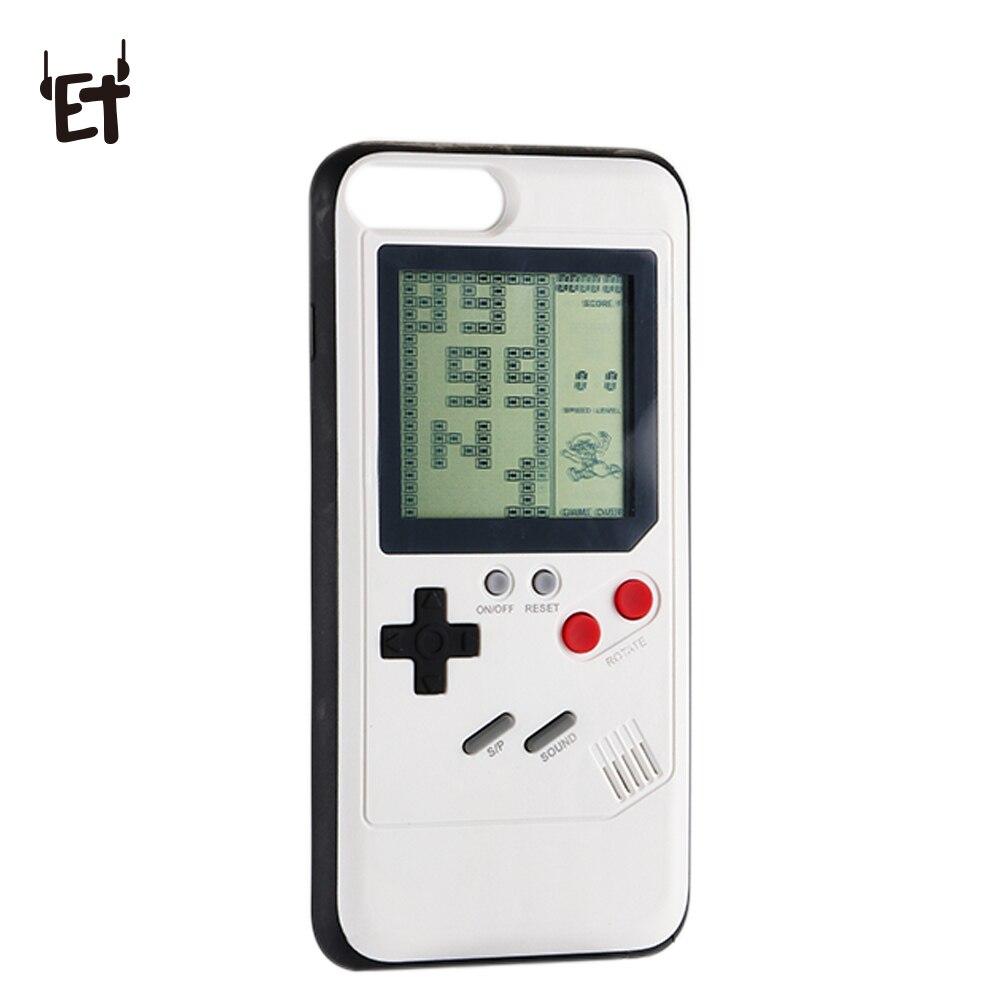 ET Retro Tetris Casse Del Telefono per il iphone 6 6 S 7 8 Più Classico GameBoy Cassa Del Telefono per il iphone X TPU Della Copertura Posteriore di Regali per il Capretto Adulto