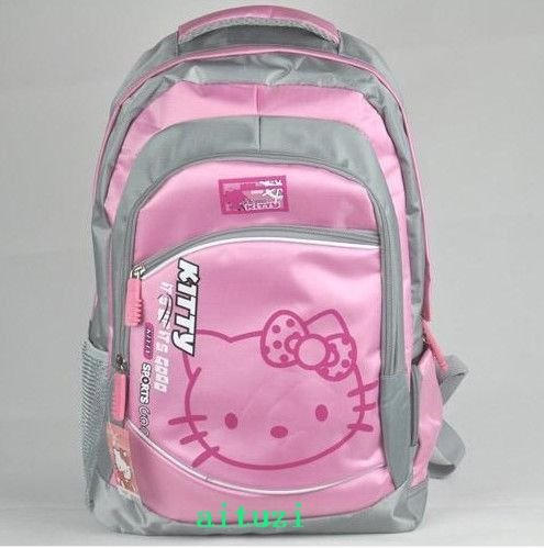 Cute Big Pink Hello Kitty Backpack Travel Bag Luggage School bag #0512+free shipping