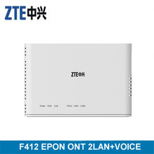 ZTE EPON ONU F412 2GE+1 POT V5.0 FTTH ONU IPTV INTERNET English Version rl801ew epon onu for fulfilling ftth and triple play service demand of fixed network operators or cable operators