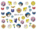 DIY Water Transfer Foils Nail Art Sticker Fashion Nails Cartoon Harajuku Sailor moon Decals Minx Nail Decorations