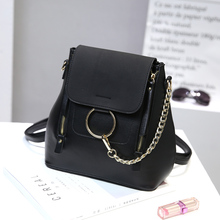 Simple Style Women PU Leather Backpacks For Teenage Girls School Bags Fashion Vintage 5 colors Messenger Crossbody Shoulder Bags