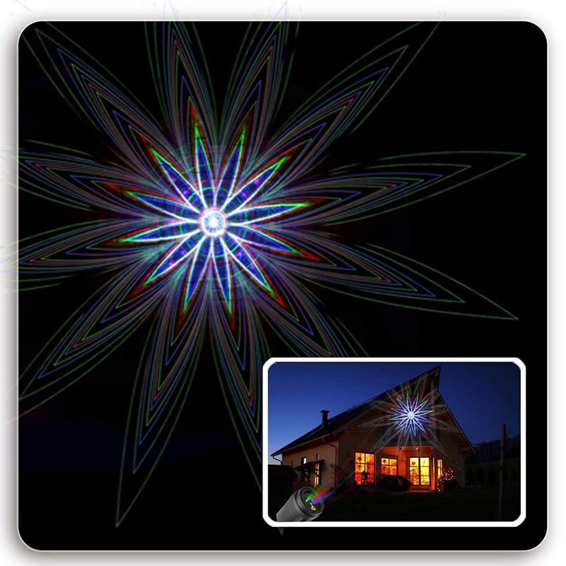 Ducha de luz láser de estrellas de Navidad 24 patrones efecto - Iluminación comercial - foto 2