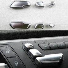 Rete Per Mercedes Benz E/GLK/ML/GL/GLS Auto Decorazione di Interni Auto tasto di regolazione del Sedile interruttore assetto 6 pz/set