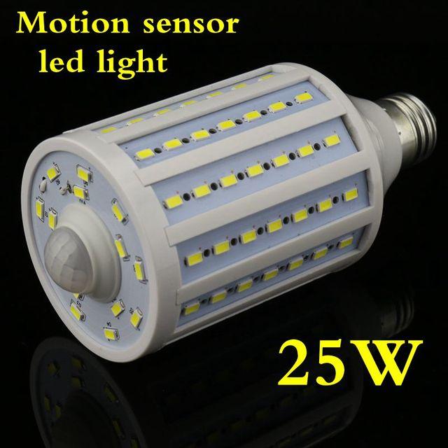 Motion sensor de luz led 25 w 45 w pir lâmpada 5730smd automático ativado b22/e27/e14 220 v (110 V) Warm white Frete grátis