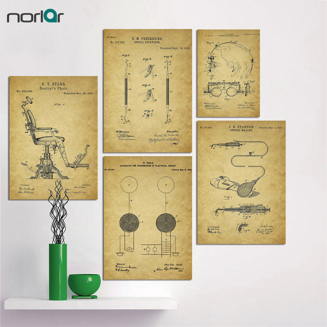HD Printed Mechanical Patent Vintage Poster Art Print Wall Art Pop ...
