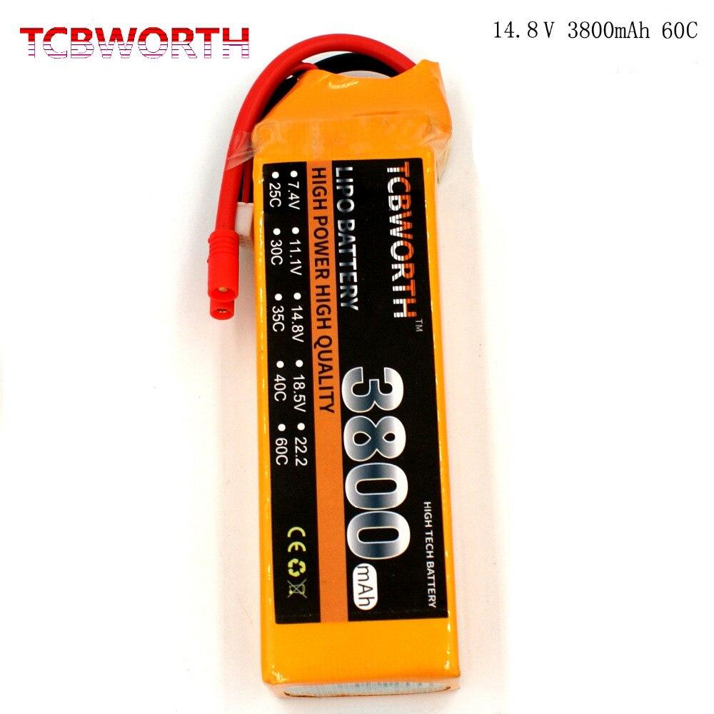 TCBWORTH RC LiPo Batterie 4S 14.8 V 3800 mAh 60C-120C RC Hélicoptère Batteries Pour RC Avion Quadcopter Voiture Bateau Camion batterie 4S