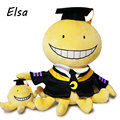 30 cm Asesinato Aula Korosensei Pulpo Cosplay Anime Plush Peluche Muñeca Cara de La Sonrisa 30 cm Juguetes Para Niños Brinquedos WJ443