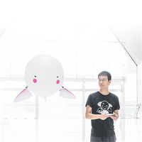 JJRC H80 Qbo Fly Drone Dron 2.4G RC Helium Balloon Robot 30mins Flight Explosion Proof Leak Proof Design Remote Control Toys