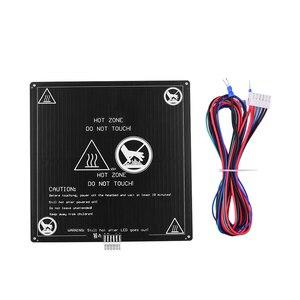 Image 5 - Алюминиевая грелка Aibecy 12 В 220*220*3 мм, грелка с проволочным кабелем, комплект платформы для 3D принтера Anet A8 A6