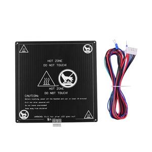 Image 5 - Aibecy Aluminium 12V Broeinest 220*220*3Mm Verwarmde Bed Met Draad Kabel Heatbed Platform Kit Voor anet A8 A6 3D Printer Onderdelen