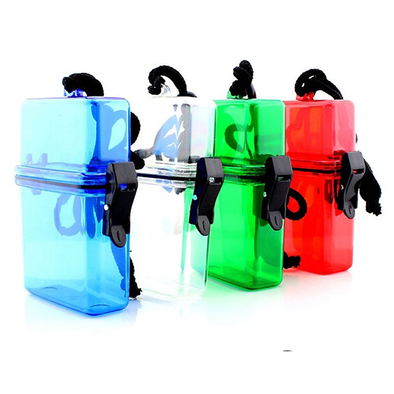 Hot Selling New Waterproof Plastic Container Money Phone Storage Box Case Holder Camping Portable Practical Waterproof container