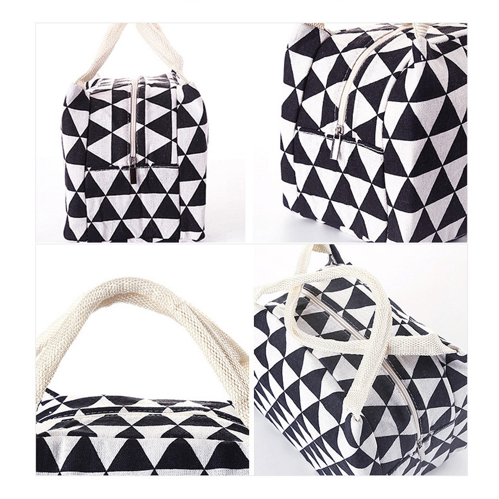 High Quality For Women Kids Men Insulated Canvas Box Tote Bag Thermal Cooler Food Lunch Bags Outdoor Picnic Bag
