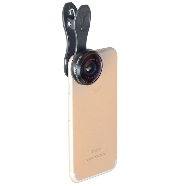 APEXEL Phone Lens 238 degree super fisheye lens, 0.2X full frame super Wide angle lens for iPhone 6 7 android ios smartphone 1