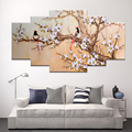 living room cuadros decoracion multi wall pictures for art canvas painting Magpie plum picture home decor paintings (No Frames)