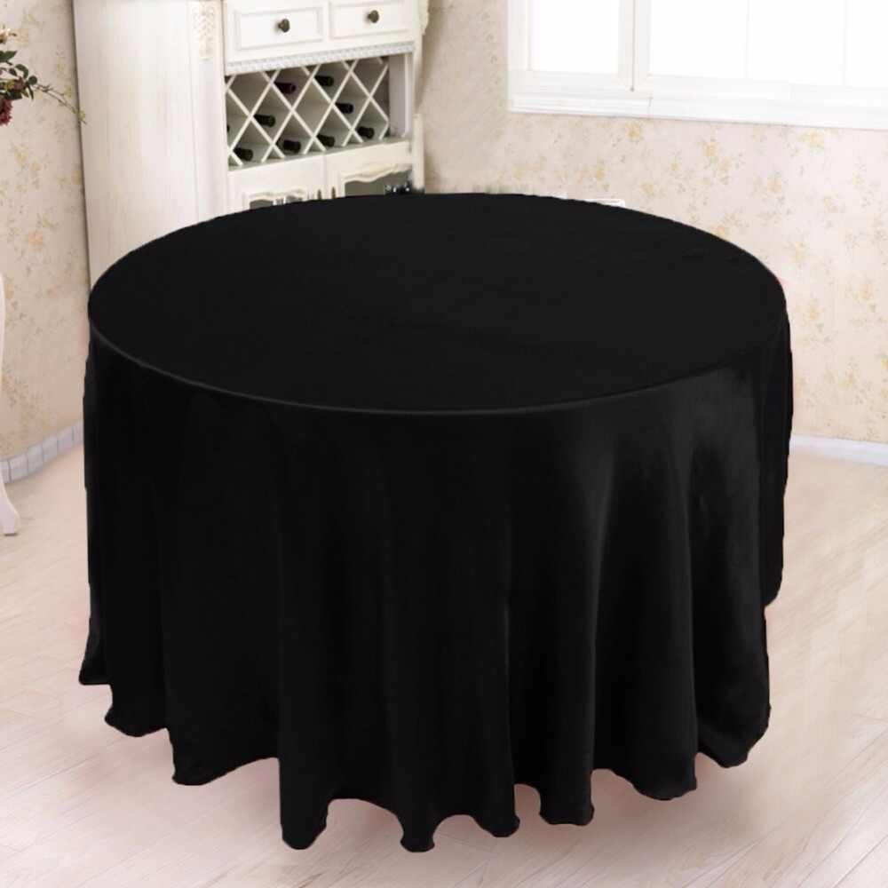 5pcs Modern Round Tablecloth 305*305cm Polyester Wedding Table Cloth  Wedding Decorations Party Supply Home Textile White Black In Tablecloths  From Home ...