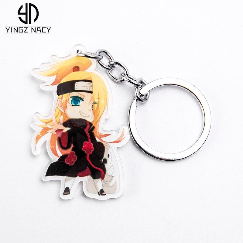 Anime Uzumaki Uchiha Sasuke Cosplay Acrylic Keychain accessory Cute Gifts
