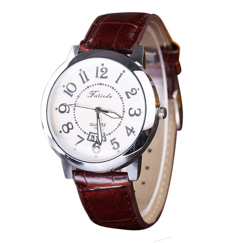 1PC Elegant personality Leisure Men Watch Quartz Leather Analog Wrist fshion classic Watch relogio masculino Dropshipping NMB25 ...