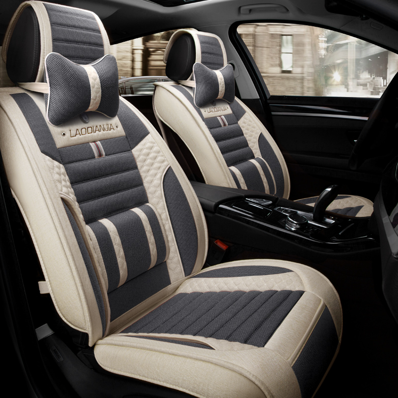 3D Car Seat Cover General Cushion Flax ,Car Styling For ...