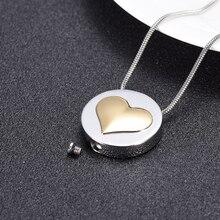 Любовь сердечко кремация ювелирные изделия мемориальная урна из нержавеющей стали ожерелье для праха кремации урны на память о похоронах кулон для женщин
