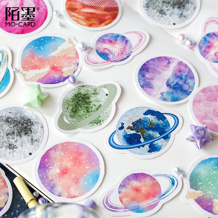 Image 4 - 30 pcs/lot Star 32 Universe Decorative Stickers Adhesive Stickers DIY Decoration Diary Stationery Stickers Children GiftStationery Stickers   -